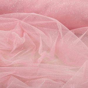 Tecido Tule Glitter Cor de Rosa