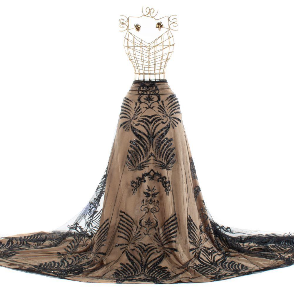 Tecido Tule Glitter Preto 50cm De Largura Na Riviera Tecidos Finos