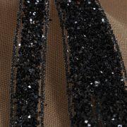 Tecido Tule Glitter Preto