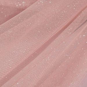 Tecido Tule Glitter Rosa Quartzo