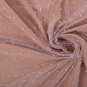Tecido Tule Gotas Cor de Rosa