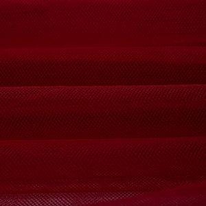 Tecido Tule Ilusion Vermelho Escuro