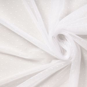 Tecido Tule Point Sprit Mini Poá Branco