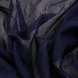 Tecido Tule Span Point Sprit Azul Marinho