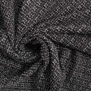 Tecido Tweed Branco e Preto