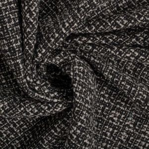 Tecido Tweed Creme e Preto