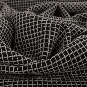 Tecido Tweed Dupla Face Preto e Branco