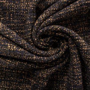Tecido Tweed Lã Pura Azul Marinho e Bege