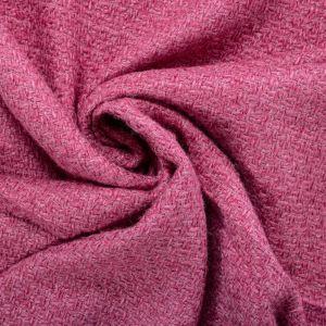 Tecido Tweed Lã Pura Rosa
