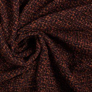 Tecido Tweed Laranja e Preto