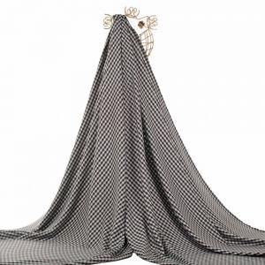 Tecido Tweed Xadrez Preto e Branco