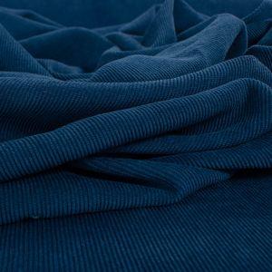Tecido Veludo Cotelê Span Azul Escuro