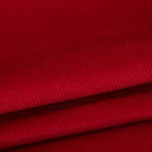 Tecido Veludo Cotelê Vermelho Cereja