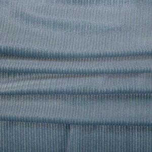 Tecido Veludo Cristal Cotelê Azul Serenity