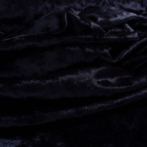 Tecido Veludo Molhado Azul Marinho
