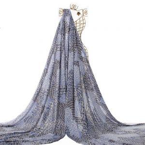 Tecido Viscose Estampa Abstrata Azul Royal