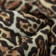 Tecido Viscose Doncella Estampa Animal Print Onça