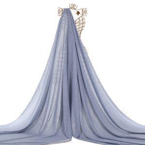 Tecido Viscose Estampa Céu Estrelado Azul Denim