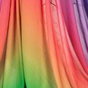 Tecido Viscose Estampa Doncella Tie Dye Roxo e Verde
