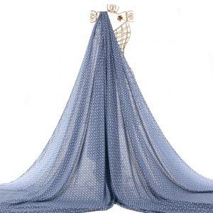 Tecido Viscose Estampa Estrelinhas Azul Denim