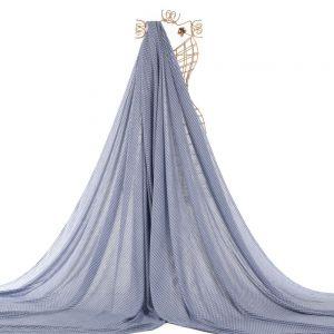 Tecido Viscose Estampa Flor Azul Denim