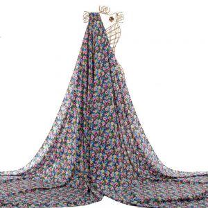 Tecido Viscose Estampa Floral Azul Bic