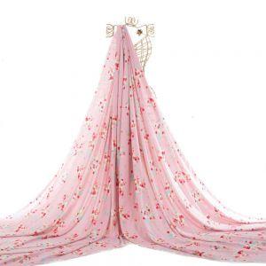 Tecido Viscose Estampa Floral Rosa