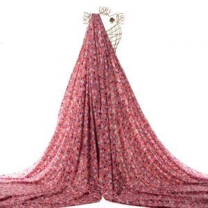Tecido Viscose Estampa Liberty Cor de Rosa