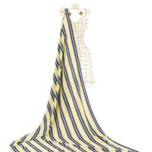 Tecido Viscose Estampa Listras Azul e Amarelo