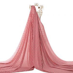 Tecido Viscose Estampa Mini Floral Rosa Carmim