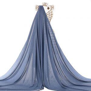 Tecido Viscose Estampa Mini Paisley Azul Denim
