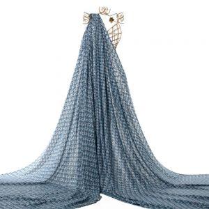 Tecido Viscose Estampa Pássaro Azul