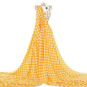 Tecido Viscose Estampa Poá Amarelo