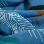 Tecido Viscose Estampa Tropical Azul Serenity Queimado