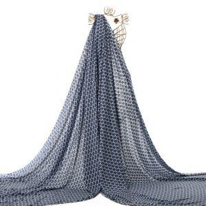 Tecido Viscose Estampa Mini Floral Azul Bic