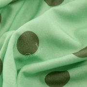 Tecido Viscose Neo Mint Escuro Estampa Doncella Poá Verde Escuro