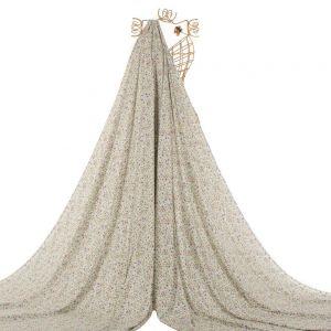 Tecido Viscose Premium Estampa Liberty Cor Marfim