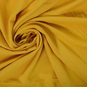 Tecido Viscose Trama de Linho Amarelo Mostarda