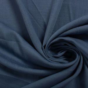 Tecido Viscose Trama de Linho Azul Denim Claro