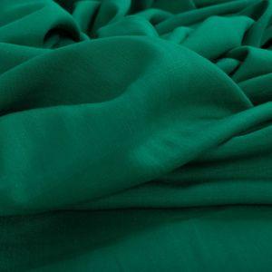 Tecido Viscose Trama de Linho Verde Esmeralda