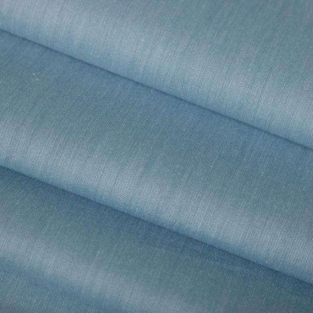 Tecido Tricoline Acetinada Azul Porcelana