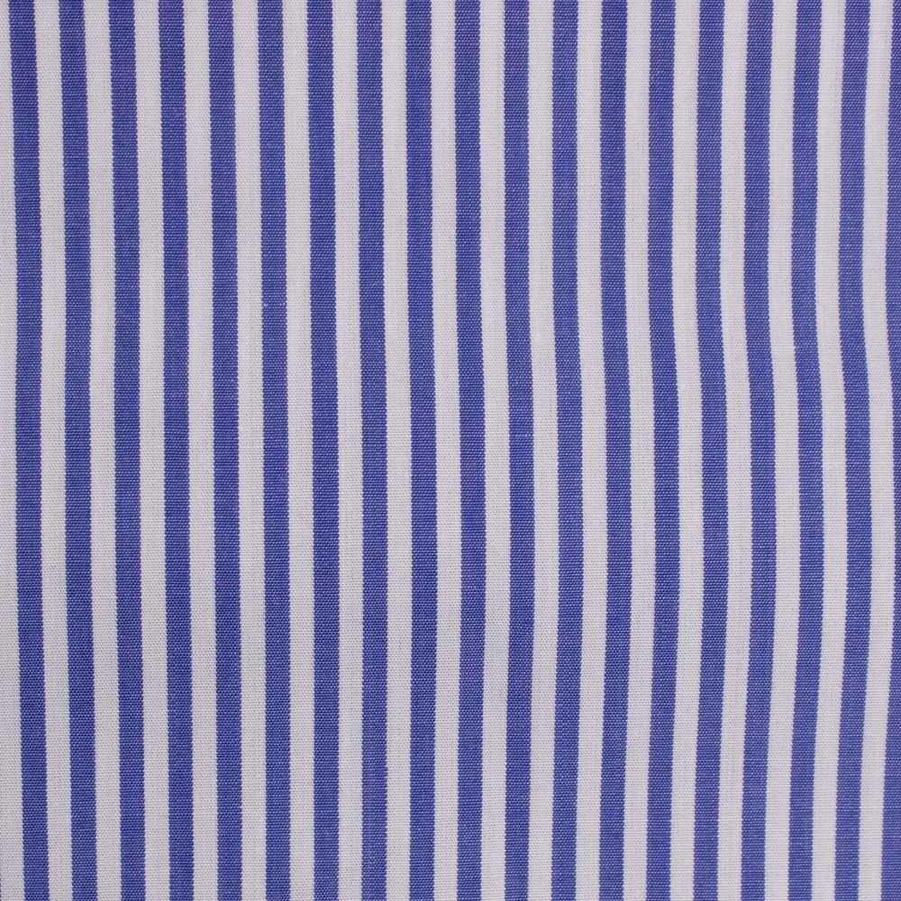ea710697d4 Tricoline Fio 70 Pima Listrada Azul e Branco na Riviera Tecidos Finos