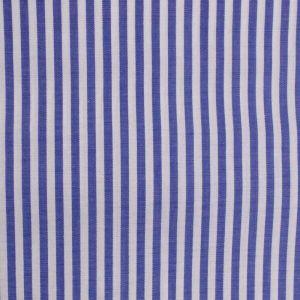 Tricoline Fio 70 Pima Listrada Azul e Branco